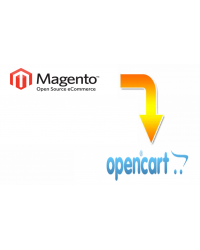 Magento to Opencart migration service