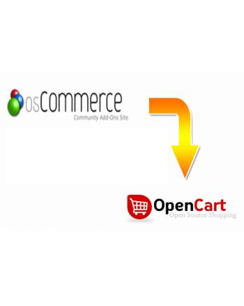 Oscommerce to Opencart migration service